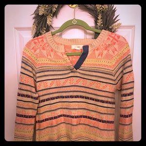 Anthropologie bohemian winter sweater